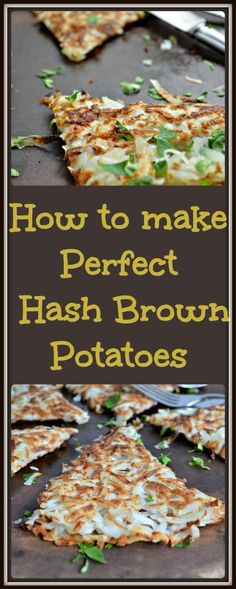 The perfect hash brown potatoes should be crispy on the outside and tender on the inside. Come find out how easy this is to achieve at home!