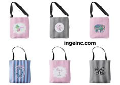 Fun Summer Designer Canvas Totes by Inge. View at http://www.zazzle.com/collections/tote_bags_designs_by_inge-119244441401188663