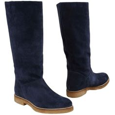 Stefano Gamba Boots (185 CHF) ❤ liked on Polyvore featuring shoes, boots, dark blue, square heel shoes, square heel boots, dark blue shoes, animal shoes and round cap