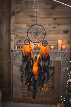 Fire Dreamcatcher, Bohemian Dream Catcher,Wall Hanging Dream catcher.dream…