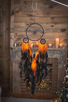 Fire Dreamcatcher, Bohemian Dream Catcher,Wall Hanging Dream catcher.dream catcher wall hanging mobile.wall hanging dreamcatcher