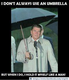 The man could carry his own umbrella.