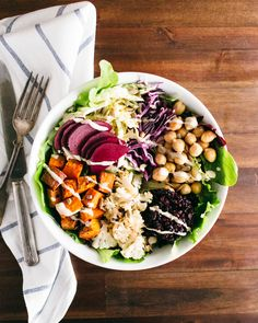 Roasted Nourish Bowl with Lemon Tahini Dressing | A Couple Cooks