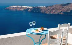 GREECE CHANNEL | Andromeda Villas Hotel Santorini, Imerovigli - A private veranda of a standard room with breath-taking views