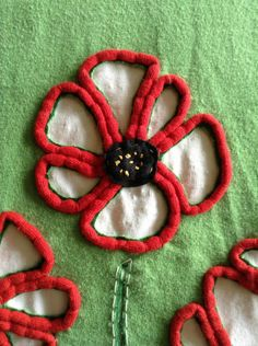 reverse Applique with couching
