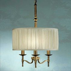 Interiors 1900 Stanford 3 Light Pendant Antique Brass 63630 | Buy Online from KES Lighting