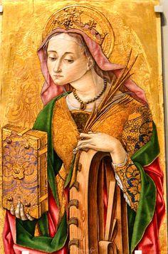Vittore Crivelli - Santa Caterina d'Alessandria - c1481-  Victoria and Albert Museum, London, UK