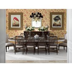 Charleston Regency Oyster Point Double Pedestal Dining Table by Stanley Furniture at Belfort Furniture Furniture, Dining Table Setting, House Furniture Design, Dining Table In Kitchen, Dining Table, Home Decor, Dining Room Sets, Side Chairs Dining, Dining Room Furniture