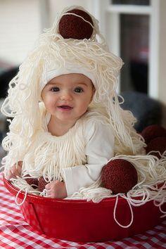 Costume da spaghetti e polpette per Carnevale