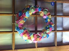 Grace's luau birthday wreath that I made!!