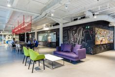 Luxurious Co-Working Spaces : co-work space – Office İnterior İdeas Look Office, Cool Office Space, Green Office, Interior Work, Interior Architecture, Interior Design, Aire Camping Car, Madrid, Google Office