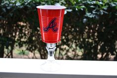 Atlanta Braves MLB Solo Cup Wine Glass by MagnoliaJaneGifts