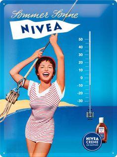 nivea poster - Google zoeken Retro Pin Up, Retro Ads, Vintage Ads, Vintage Posters, Advertising History, Old Advertisements, Poster Ads, Advertising Poster, Magazin Covers