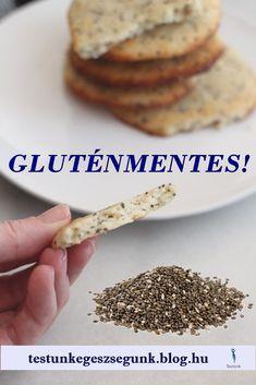GLUTÉNMENTES, CHIA MAGOS, SÓS KEKSZ RECEPT - Testünk-Egészségünk-Diéta Sin Gluten, Chia Puding, Diy Food, Gluten Free Recipes, Food Porn, Food And Drink, Low Carb, Meals, Vegan