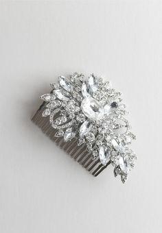 Crystal and diamond hair comb - Rue De Seine
