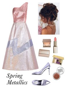 """Spring Metallics"" by kotnourka ❤ liked on Polyvore featuring Vika Gazinskaya, Just Cavalli, Givenchy, Estée Lauder and Urban Decay"