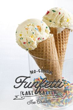 No-Churn Funfetti Cake Batter Ice Cream | eBay