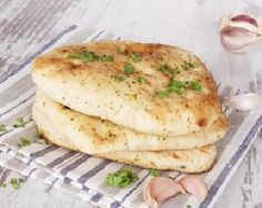 Naan bread is traditionally cooked in a clay oven, but you can make this recipe, compliments off Weigh-Less, in your home oven. Serve the bread with a curry or kebabs. Indian Food Recipes, Vegetarian Recipes, South African Recipes, Savoury Recipes, Make Naan Bread, Kulcha Recipe, Good Food Channel, Homemade Curry, Clay Oven
