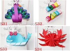 Wholesale Kids Sculpture Ribbon bow Hair clip baby Christmas Tree Thanksgiving Hallowmas Pumpkin bow headbands, Free shipping, $1.79-2.05/Piece | DHgate