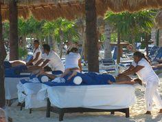 Playa Del Carmen beach massages