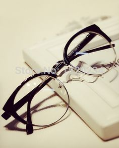5de5e764e1fa 2015 Newest Fashion Brand 4 Colors Plain Glasses Polycarbonate Lenses  Vintage Frame Computer Glasses for Men