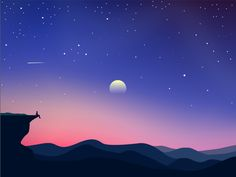 Night by Milos Subotic #Design Popular #Dribbble #shots