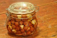 Oh my! Honey preserved hazelnuts!