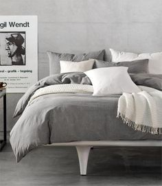 Hotel Quality Solid Color Four Piece Fitted Duvet Set 100% Washed Cotton