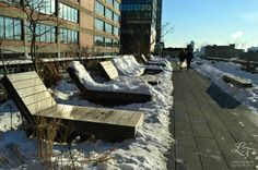 The High Line - NYC - February 2014 High Line Ny, Outdoor Furniture, Outdoor Decor, Sun Lounger, February, New York, Nyc, Photos, Chaise Longue