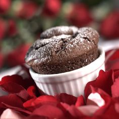 Want to treat that special someone this Valentine's Day?  Tempt them with this tantalizing recipe for Hidden Treasure Chocolate Soufflés - a surprisingly simple-to-make delicacy that is sure to please.    Savor the intense flavor of the rich chocolate with a creamy caramel secret hidden in the center.  It's a sweet treasure that will fill both of your hearts with love.