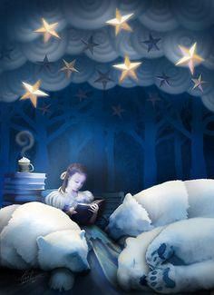 """She Reads Them to Sleep"" (by Peyton Duncan) Who do you read to sleep? It could be any ""being"" by directing Radiant Energy."