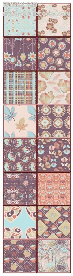 Frozen Fall Pattern Set by Violablu - Sims 3 Downloads CC Caboodle  xoxo
