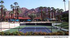 Clubhouse Tennis Court at La Quinta Resort & Club, a Waldorf Astoria Resort, La Quinta, California