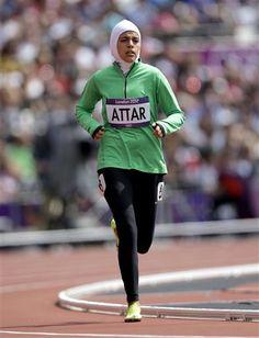 Saudi Olympian Sarah Attar - Historic Icon- you go girl