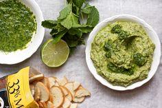 Hummus de aguacate y cilantro