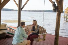 Oh this is too cute! He proposed at the same place he asked her to be his girlfriend. <3