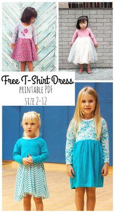 T-shirt dress free pdf pattern by Nap-Time Creations