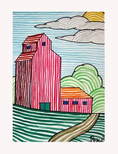 Super Ideas For Landscape Drawing For Kids Inspiration 2nd Grade Art, Grade 3, Ecole Art, School Art Projects, Line Art Projects, Art Lessons Elementary, Elementary Schools, Middle School Art, Elements Of Art
