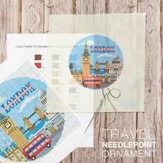 #London 🎡 is one our favorite places to visit. Do you have a favorite travel destination? Our designers would love to create a #customneedlepoint ornament canvas for you to #stitch Feel free to contact us at info@needlepaint.com Where will your next #needlepoint adventure take you? Needlepoint Designs, Needlepoint Kits, Needlepoint Canvases, Create Your Own, Travel Destinations, Designers, Palette, London, Adventure