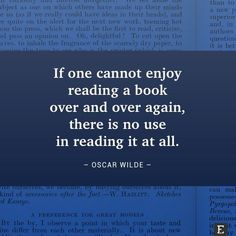 Do you enjoy reading books over and over again?