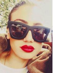 fb0ad6a732 CY MODEL MARIA KONTOU IN OUR LIMITED EDITION LEATHER VALLEY EYEWEAR  DB .  FIND