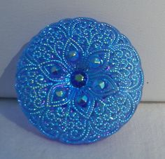 Lacy Flower Czech Glass Button by MostlyButtons on Etsy, $5.00