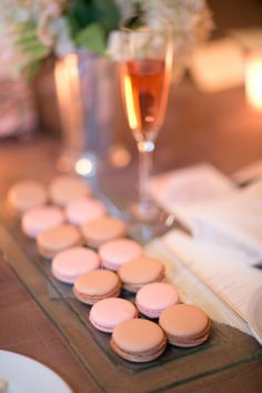 macarons et champagne...