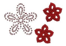 No.3 Penta Crochet Flower Motifs / 펜타 코바늘 플라워 모티브도안