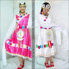 Tibet attire | the longer ethnic tibetan clothing dance costumes ladies minorities ...