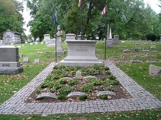 This is where the Wright Brothers were buried in Dayton Ohio