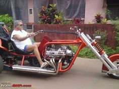 The King Of Good Times, Vijay Mallya With His V8 Trike At Goa.