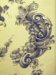 French Ornament Drawings 1 by Surface Fragments 2, via Flickr