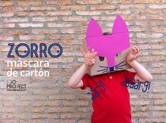 #Recicla tus #cajas de #cartón del #KIT #idoproyect: #máscaras para #niños…