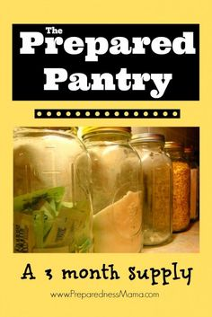 The Prepared Pantry: A 3  month supply of meals   PreparednessMama